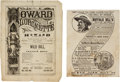 "Miscellaneous:Ephemera, ""Wild Bill, the Prairie Hero"": A Rare 1873 Theatrical Program. ...(Total: 3 Items)"
