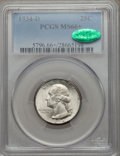 Washington Quarters, 1934-D 25C Medium Motto MS66+ PCGS. CAC....