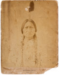 """American Indian Art:Photographs, Sitting Bull: A Very Rare 11"""" x 14"""" Mammoth Photo by D. F. Barry. ..."""