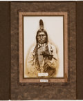 American Indian Art:Photographs, Chief Low Dog: An Original D. F. Barry Photo. ...