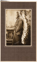 American Indian Art:Photographs, Chief Jumping Bear, a.k.a. Chief John Grass: An Original D.F. BarryPhoto....