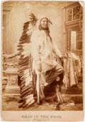 American Indian Art:Photographs, Rain in the Face: A Rare Oversized D. F. Barry Cabinet Photo MarkedBismarck, Dak. 1888....