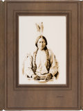 American Indian Art:Photographs, Sitting Bull: An Exceptional Oversized D. F. Barry Photo inOriginal Mount. ...