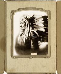 Sitting Bull: A Stunning Huge Signed Photo by D. F. Barry