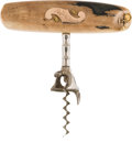 Western Expansion:Goldrush, Alaska Gold Rush: A Superb Gold-trimmed Corkscrew....
