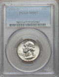 Washington Quarters, 1941-D 25C MS67 PCGS....