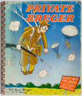 Books:Art & Architecture, [Wartime Cartoons]. Dave Breger. Private Breger. Chicago: Rand McNally, [1942]. First edition. Printed wrappers, spi...