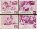 """Movie Posters:Foreign, The Light Across the Street (UMPO, R-1960). Lobby Card Set of 4 (11"""" X 14""""). Foreign. Re-release Title: Female and the Fle... (Total: 4 Items)"""