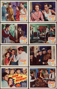 "Show Them No Mercy! (20th Century Fox, R-1949). Lobby Card Set of 8 (11"" X 14""). Crime. ... (Total: 8 Items)"
