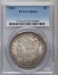 Morgan Dollars: , 1881 $1 MS65 PCGS. PCGS Population (1041/111). NGC Census: (646/52). Mintage: 9,163,975. Numismedia Wsl. Price for problem ...