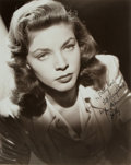 "Autographs:Celebrities, Lauren Bacall (b. 1924, American actress) Photograph Signed""Betty."" No date, signature probably later. Black and white. Mea..."