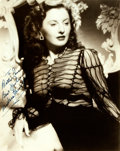 """Autographs:Celebrities, Barbara Stanwyck (1907-1990, American actress) Photograph Signed.No date. Black and white. Measures 8"""" x 10"""". Very minor ed..."""