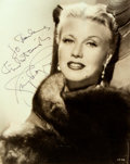 Autographs:Celebrities, Ginger Rogers (1911-1995, American actress) Photograph Signed. No date, signature probably later. Black and white. Measures ...