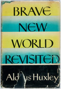 Books:Social Sciences, Aldous Huxley. Brave New World Revisited. New York: Harper& Brothers, [1958]. First American edition. Publisher's b...