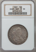 Early Half Dollars: , 1807 50C Draped Bust VF30 NGC. NGC Census: (84/564). PCGSPopulation (119/625). Mintage: 301,076. Numismedia Wsl. Pricefor...