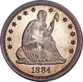 Proof Seated Quarters, 1884 25C PR66 Cameo PCGS. CAC....