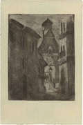 Prints, After CAMILLE PISSARRO (French, 1830-1903). Petit Rue Nationale à Rouen, 1896. Etching. 9-1/2 x 6-1/4 inches (24.1 x 15....