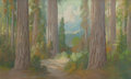Fine Art - Painting, American:Modern  (1900 1949)  , CARL SAMMONS (American, 1883-1968). Redwoods, 1922. Pastelon board. 12 x 20 inches (30.5 x 50.8 cm). Signed and dated l...