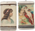 Advertising:Small Novelties, Pretty Lady Advertising Matchsafes.... (Total: 2 Items)