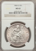 Seated Dollars, 1860-O $1 MS62 NGC....