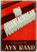 Books:Literature 1900-up, Ayn Rand. The Fountainhead. Indianapolis: Bobbs-Merrill,[1943]. Early printing. Publisher's maroon cloth and origin...