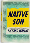 Books:Literature 1900-up, Richard Wright. Native Son. New York: Harper & Brothers,1940. First edition, first printing. Publisher's blue-black...