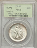 Commemorative Silver: , 1937-S 50C Texas MS64 PCGS. PCGS Population (362/1193). NGC Census:(174/1001). Mintage: 6,637. Numismedia Wsl. Price for p...