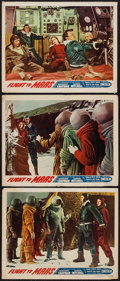 "Movie Posters:Science Fiction, Flight to Mars (Monogram, 1951). Lobby Cards (3) (11"" X 14"").Science Fiction.. ... (Total: 3 Items)"