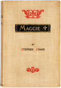 Books:Literature 1900-up, Stephen Crane. Maggie. New York: D. Appleton, 1896. Firstedition. Publisher's beige cloth, slightly soiled. Spine d...