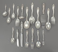 Silver Flatware, American:Gorham, A ONE HUNDRED AND NINETEEN PIECE AMERICAN DECOR PATTERNSILVER FLATWARE SERVICE FOR TWELVE, Gorham Manufacturing... (Total:119 Items)