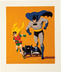 MEL RAMOS (American, b. 1935) Batmobile, 1962 Screenprint in colors 35-1/2 x 30 inches (90.2 x 76