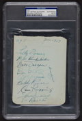 Autographs:Others, Signed 1939 New York Yankees Partial Team Sheet with Gehrig. ...