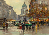 EDOUARD-LÉON CORTÈS (French, 1882-1969) The Pantheon Oil on canvas 13 x 18 inches (33.0 x 45.7 cm