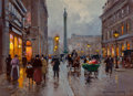 Fine Art - Painting, European:Contemporary   (1950 to present)  , EDOUARD-LÉON CORTÈS (French, 1882-1969). Rue de la Paix, PlaceVendôme, Paris. Oil on canvas. 13 x 18 inches (33.0 x 45....
