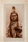 American Indian Art:Photographs, Chief Low Dog: A Fabulous Huge D. F. Barry Photo....