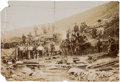 Western Expansion:Goldrush, Large 1902-dated Photo of Identified Alaska Yukon Mining Scene....