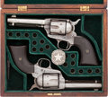 Handguns:Single Action Revolver, Great Pair of Colt .41 Caliber Single Actions, ConsecutivelyNumbered, Attributed to Texas Rangers Captain Roy Alderich....(Total: 2 Items)