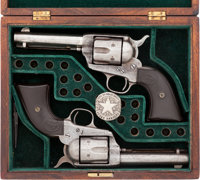 Great Pair of Colt .41 Caliber Single Actions, Consecutively Numbered, Attributed to Texas Rangers Captain Roy Alderich...