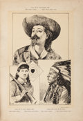 """Antiques:Posters & Prints, William F. """"Buffalo Bill"""" Cody: A Rare Large 1891 PortfolioPublished in Germany. ..."""