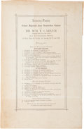 """Miscellaneous:Ephemera, W. F. """"Doc"""" Carver: A Rare 1880 Program from his ShootingExhibition for the German Kaiser...."""