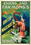Memorabilia:Poster, Chang and Fak-Hong's United Magicians Presents The BhudaVintage Poster (c. 1900). . ...