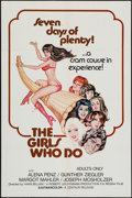 """Movie Posters:Sexploitation, The Girls Who Do & Other Lot (Centaur, 1974). One Sheets (2)(25"""" X 38"""" & 27"""" X 41""""). Sexploitation.. ... (Total: 2 Items)"""