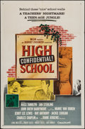 """Movie Posters:Exploitation, High School Confidential (MGM, 1958). One Sheet (27"""" X 41"""").Exploitation.. ..."""