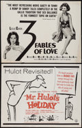 """Movie Posters:Foreign, Mr. Hulot's Holiday & Other Lot (Continental Distributing, R-1960s). Half Sheets (2) (22"""" X 28""""). Foreign.. ... (Total: 2 Items)"""