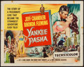 """Movie Posters:Adventure, Yankee Pasha & Other Lot (Universal International, 1954). HalfSheet (22"""" X 28"""") Style A & Trimmed Window Card (14"""" X18.5"""")... (Total: 2 Items)"""