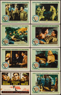 "Movie Posters:War, The Young Lions (20th Century Fox, 1958). Lobby Card Set of 8 (11""X 14""). War.. ... (Total: 8 Items)"