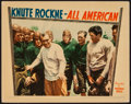 "Movie Posters:Sports, Knute Rockne - All American (Warner Brothers, 1940). Lobby Card (11"" X 14""). Sports.. ..."