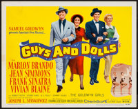 "Guys and Dolls (MGM, 1955). Title Lobby Card (11"" X 14""). Musical"