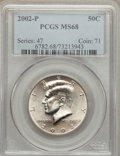 Kennedy Half Dollars, 2002-P 50C MS68 PCGS. PCGS Population (110/0). NGC Census: (2/0).Numismedia Wsl. Price for problem free NGC/PCGS coin in ...