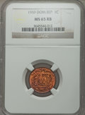 Dominican Republic, Dominican Republic: Republic Centavo 1959 MS65 Red and Brown NGC,...